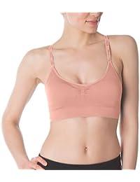 Fila pour Femme sans Couture Caraco Soutien-Gorge, Blanc, XL 57317929891c