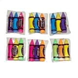 30 Crayon Shaped Erasers - 10 Packs of 3 - Party Bag Fillers! [Toy]