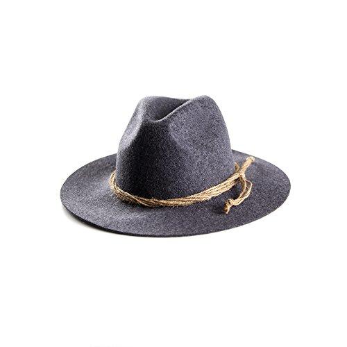ALMBOCK Trachtenhut Herren schwarz anthrazit H1 | Tirolerhut aus echtem Wollfilz | schwarzer Hut als Oktoberfest Accessoire in M, L, XL