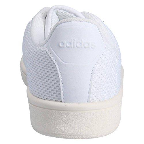 adidas Cloudfoam Advantage Clean, Scarpe da Ginnastica Basse Uomo Bianco (Footwear White/footwear White/chalk White)