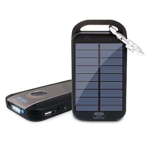 ReVIVE Solar ReStore XL Chargeur Solaire Externe Recharge 4000mAh Lampe Torche intégrée pour Smartphones , Tablettes Apple , Samsung Galaxy / GPS Garmin Et Tout Appareil Chargeable via Port USB