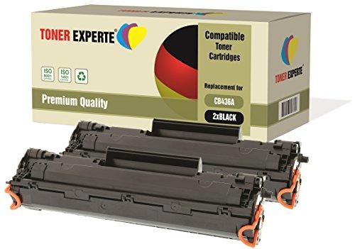 2-er Pack TONER EXPERTE® Premium Toner kompatibel zu CB436A 36A für HP...