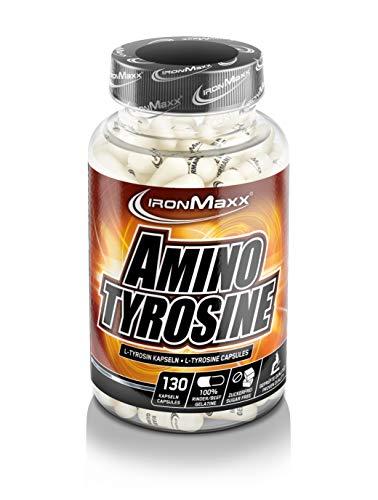 IronMaxx Amino Tyrosine - Kapseln mit der Aminosäure L-Tyrosin für Muskelaufbau während einer Diät oder im Kraftsport - 1 x 130 Kapseln