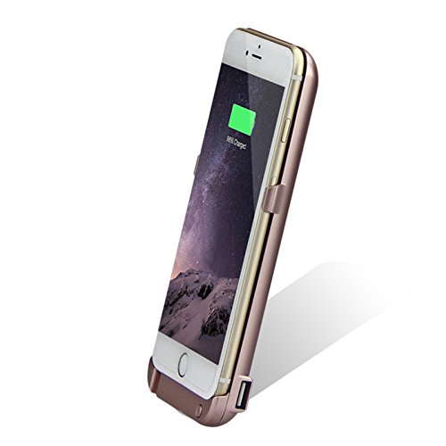 Batterie Coque iPhone 6 / iPhone 6S Plus Cover, Forhouse Battery Externe Rechargeable Case Coque 10000 mAh Li-polymer Power Bank Portable Chargeur avec Kickstand Support Batterie Pack Etui Housse Anti Golden