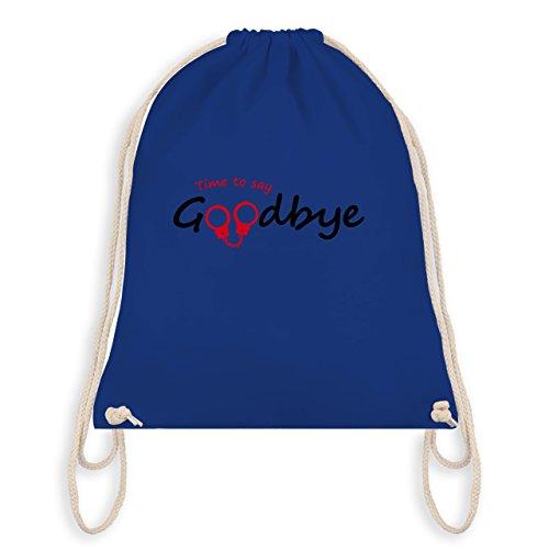 JGA Junggesellenabschied - Time to say Goodbye - Turnbeutel I Gym Bag Royalblau