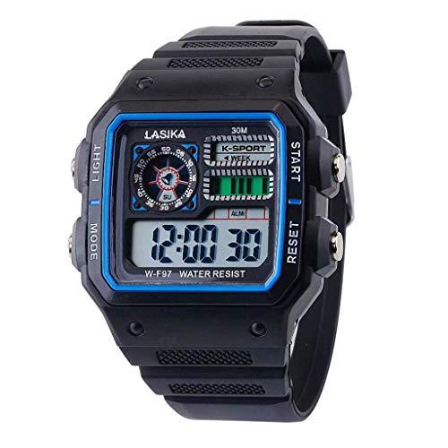 Pottoa Herren Damen Sportuhr   Fitness Analoge Armbanduhr   Multifunktionale Sport Freizeituhr Square Fashion Wild Electronic Armbanduhren Automatik