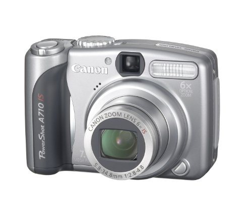 Canon PowerShot A710 IS Digitalkamera (7 Megapixel, 6fach opt. Zoom, Bildstabilisator) (Canon Powershot Unterwasser-kamera)