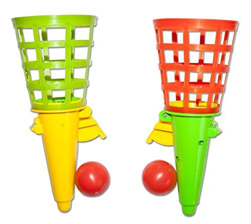 Unbekannt 6 x Fangballspiele Fangballspiel Fangbecher 18 cm Geschicklichkeitsspiel