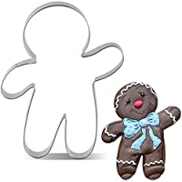 KENIAO Christmas Waving Gingerbread Man Cookie Cutter - Extra Large: 4.2 x 5.6 inches - Stainless Steel