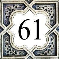 Azul\'Decor35 Hausnummernplatte Steinfliesen - 15x15x0,5 cm - Wählen Sie Ihre Nummer!