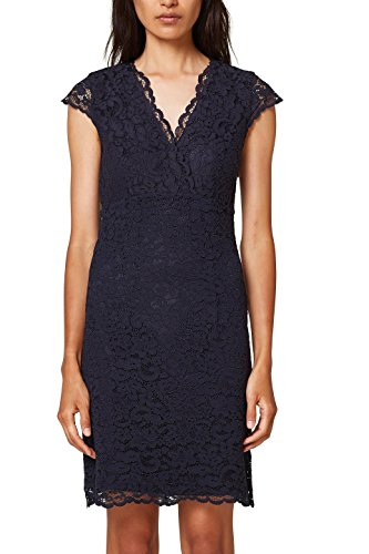 ESPRIT Collection Damen Partykleid 028EO1E030, Blau (Navy 400), 34