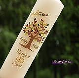 Kerzen-Express Hochzeitskerze Goldene Hochzeit Lebensbaum