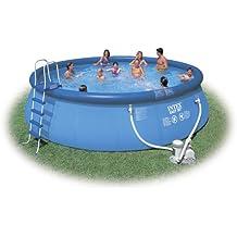 Intex Juego de piscina completo 457 x 122 cm, con escaleras, ...