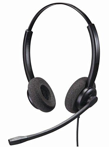 M175Headset mit 2,5mm Binaural Headset zu Telefon Anschluss für Handys und Home