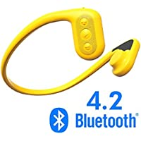 Tayogo Waterproof Headphones, BLUETOOTH MP3 Player, Bone Conduction Technology, IPX8 Waterproof, Powerful Mobile Phone APP
