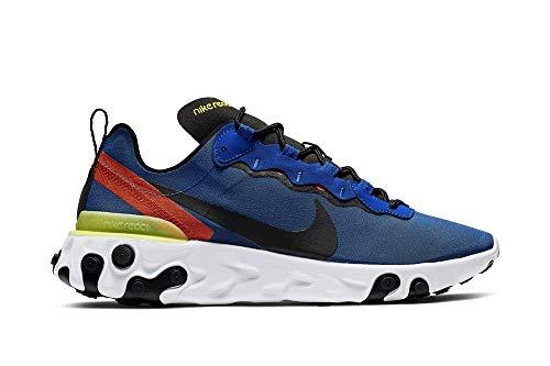 Nike React Element 55, Zapatillas de Trail Running para Hombre, Multicolor Game Royal/Black/White/Dynamic...