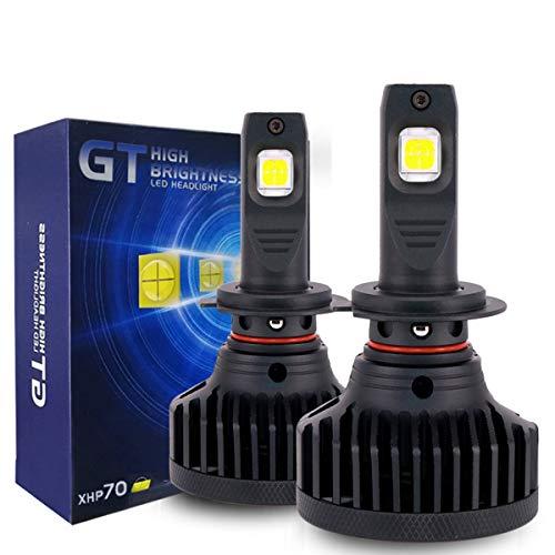 KOOMTOOM H7 LED Kit fari lampadine - fari lenticolari Chip Cree XHP70 Canbus Error Free lampadine ad alta potenza di aggiornamento 90W 18.000lm / set 6500K -2 anni di garanz