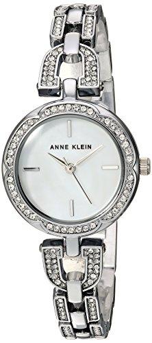 Anne Klein AK/3153MPSV - Reloj de Pulsera para Mujer con Cristales Swarovski Acentuados en Tono Plateado