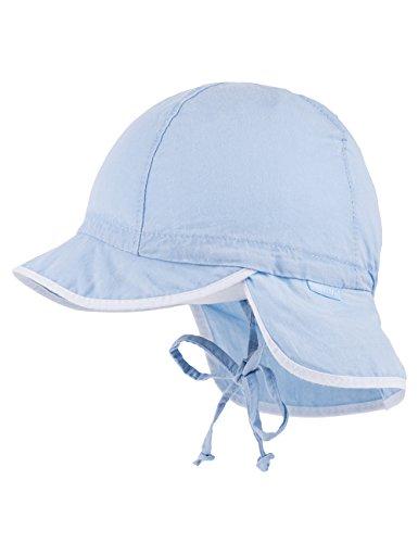 maximo Baby-Jungen Mütze Schildmütze, Waschoptik, Bindeband, Blau (Cerulean 21), 45