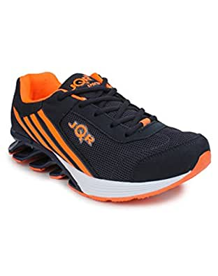JQR Blade-3 Navy Blue Orange Sports Shoes