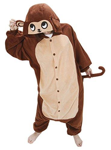 KSFJV Erwachsene Tier Cosplay Pyjamas Kostüme,Brown -
