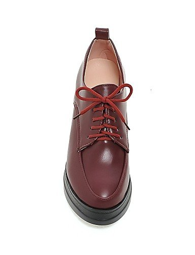 ZQ hug Scarpe Donna - Scarpe col tacco - Casual - Zeppe / Plateau - Zeppa - Finta pelle - Nero / Rosso / Beige , red-us8 / eu39 / uk6 / cn39 , red-us8 / eu39 / uk6 / cn39 red-us8 / eu39 / uk6 / cn39