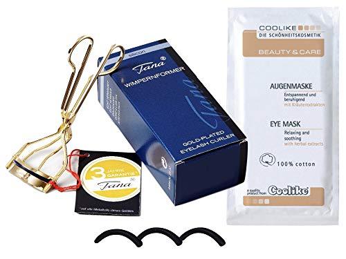 Tana Cosmetics Wimpernformer Silicon - Wimpernzange + 3 Ersatzsilikone + Coolike Augenmaske