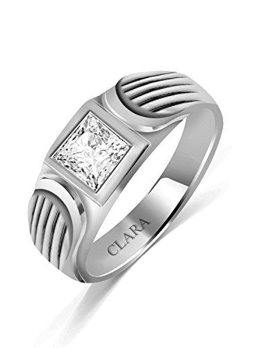 Clara Swarovski The Zebra Sterling Silver Ring For Men-24