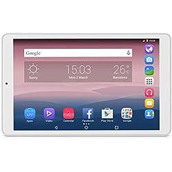 Alcatel Pixi 3 - Tablet de 10'' HD (WiFi, Procesador QuadCore 1.3GHz, 1GB de RAM, 8 GB de memoria interna, Android 5) color blanca