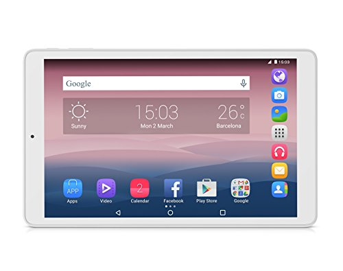 "Alcatel One Touch Pixi3 10 Wifi - Tableta 10.1"" (HDD 8GB, RAM 1GB, micro USB, 2.0MP),  color blanco"