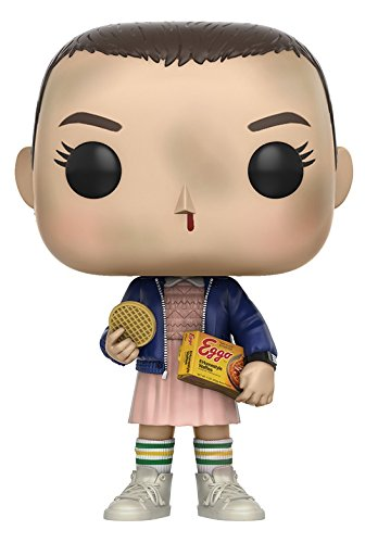 Funko pop Stranger Things - Once (Eleven) con sus gofres (Eggos)