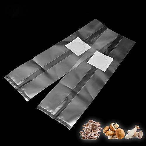 Sonnan Lot de 10 Sacs de Culture en PVC pour Champignons 250 x 500 x 0,06 mm