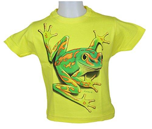 Shirt Western Junge (WESTERN-SPEICHER Kinder T-Shirt, Frosch - Gelb, Größe 96-104)