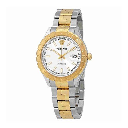 Versace Hellenyium Cadran argenté automatique montre pour homme Vzi040017