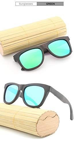 JIA-Sunglass Schattierung Handgemachte BambooNew Hipster Retro Trend Bambus Holz Fashion Frame Brille Sonnenbrille for Unisex Uv400 (Color : Blue)