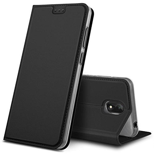 GeeMai Wiko View Go Hülle, Premium Flip Case Tasche Cover Hüllen mit Magnetverschluss [Standfunktion] Schutzhülle Handyhülle für Wiko View Go Smartphone, Schwarz