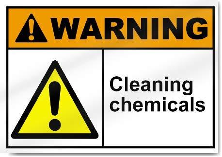 Yilooom Warnaufkleber für Reinigungschemikalien, Vinyl, 17,8 x 25,4 cm