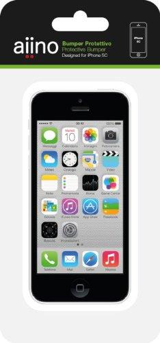 Aiino Custodia Rigida Cover Case Bumper Accessorio per Cellulare Smartphone Accessorio per Cellulare Smartphone iPhone 5C, Nero Bianco