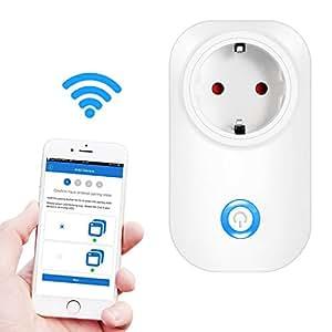 Intelligente Steckdose, Ubegood Smart Steckdose Smart Plug intelligente WLAN Steckdose Smart Timing Socket Smart Wireless Plug mit Home Automatische APP für IOS und Android Smartphones