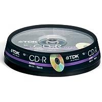 TDK CD-RXG80CB10 CD-R Audio 700MB 10 pack Cakebox