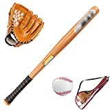 Yiiquan Unisex Enfants Little League Set Kit de Baseball Junior Multicolore : Gants + Batte + Balle (Orange Marron)