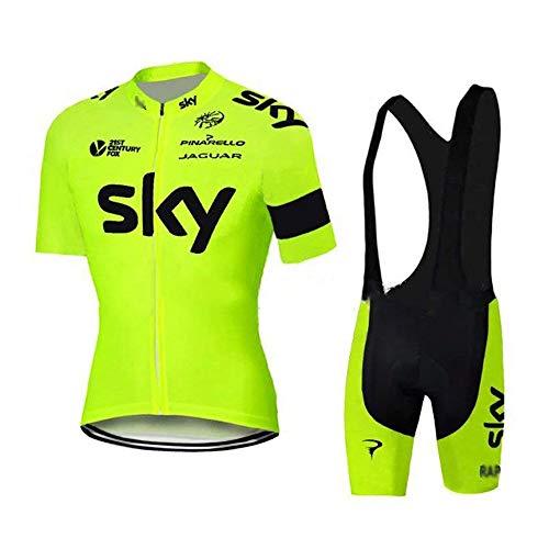 logas Herren Kurzarm Fahrrad Radfahren Jersey Quick Dry Außen Jersey + Shorts Hosen - Jersey Gefütterte Hose