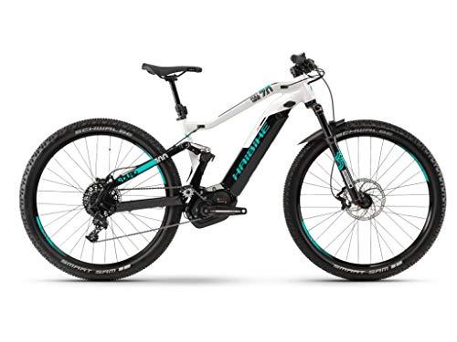 Haibike 2019 Sduro FullNine 7.0 - Bicicleta eléctrica (29\'\'), Color Negro, Gris y Turquesa, Color Schwarz/Grau/Türkis, tamaño Large, tamaño de Rueda 29.00