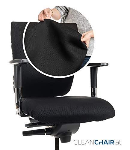 CLEANCHAIR Bürostuhlbezug für die RÜCKENLEHNE (Größe Large) Bezug für Ihren Bürostuhlrückenlehne - Rückenlehnengröße ca. 44-65 cm Breite und 50-70cm Höhe