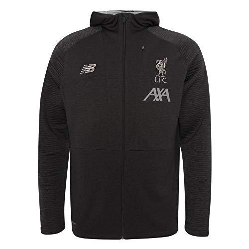 New Balance Herren Liverpool FC 2019/20 TRAVEL Full Zip Hoody Kapuzenpullover, Phantom Marl, XXL Full-zip Logo Jacket