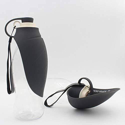 Jiaojian bottiglia di sport all'aria aperta della ciotola dell'acqua di modo del silicone del bollitore del cane di 2 580 ml