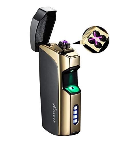 VVAY Mechero eléctrico, Doble Arco de luz, mechero de Plasma, Sensor táctil, sin Llama, USB, Recargable, Resistente al Viento, eléctrico, Encendedor de tormenta ARC Lighter