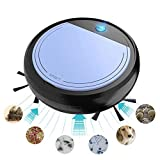 robot aspirapolvere lavapavimenti,3200Pa Alta aspirazione Super Quiet Automatic Smart Sweeping Machine con Strazianti per capelli da compagnia, tappeti duri, piastrelle (Purple black)