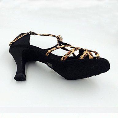 Scarpe da ballo-Da donna-Balli latino-americani-A stiletto-Raso-Leopardato leopard