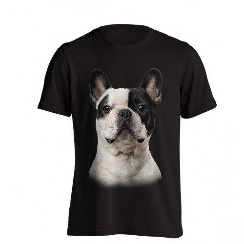 The T-Shirt Factory - Camiseta Modelo Bulldog Francés para Hombre (M/Negro)